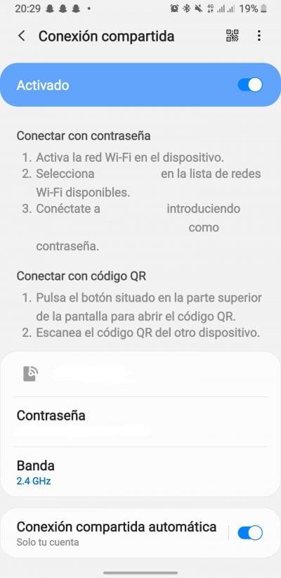 Compartir la conexión de datos móviles a través de Wi-Fi en Android