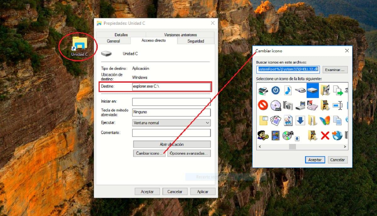 Acceso directo disco duro barra de tareas