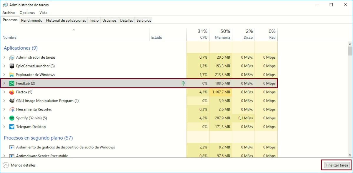 Forzar cierre aplicaciones Windows