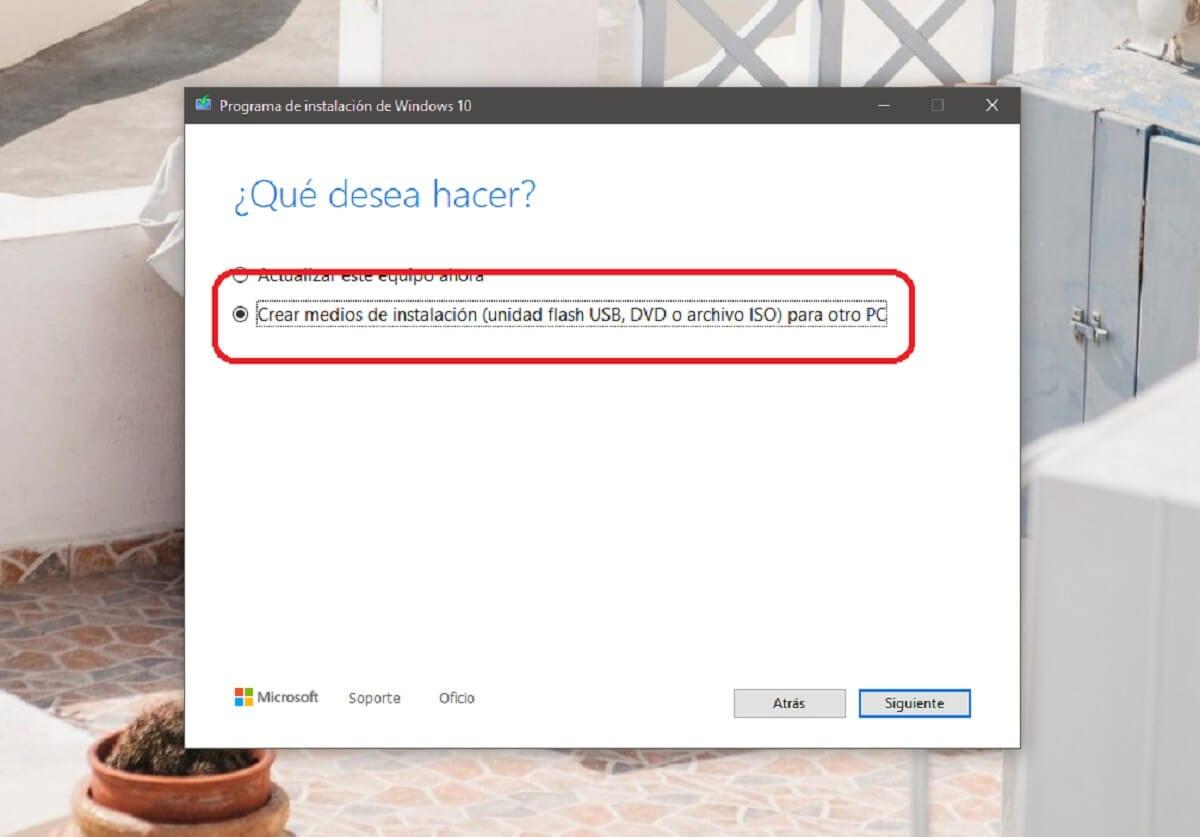Descargar una ISO de Windows 10 oficial con la herramienta de creación de medios de Microsoft