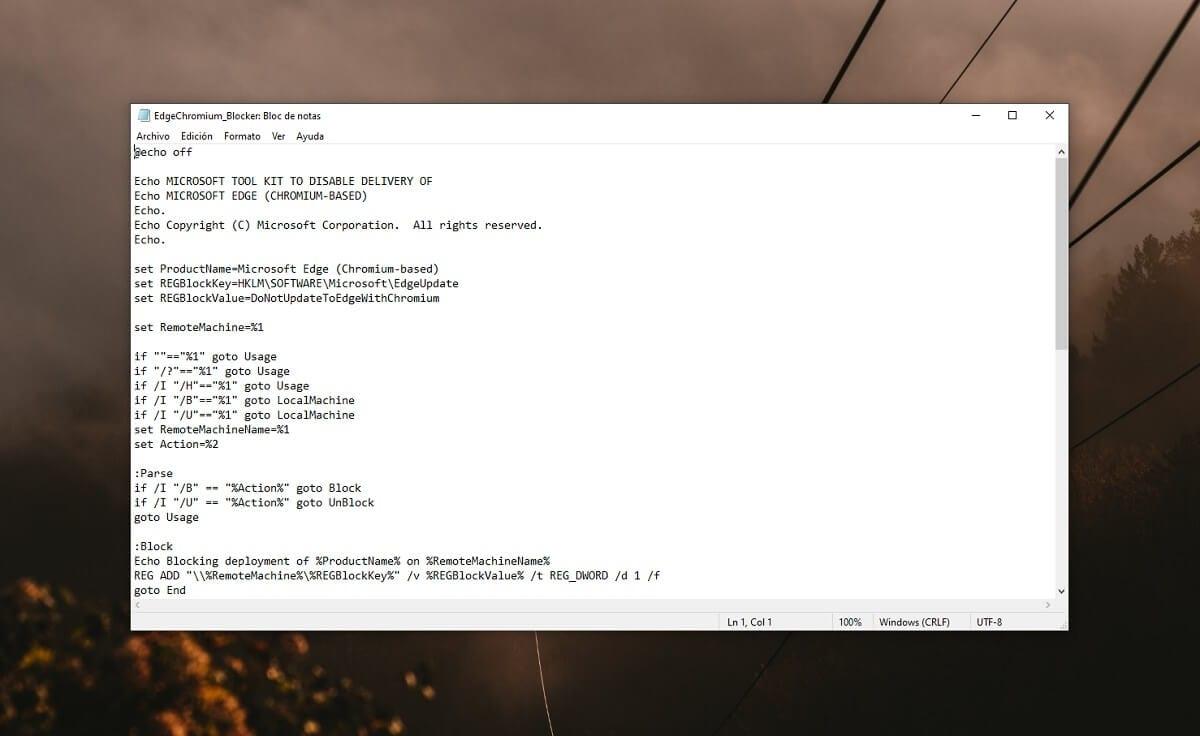 Evitar la instalación de Microsoft Edge Chromium en Windows 10 de forma automática
