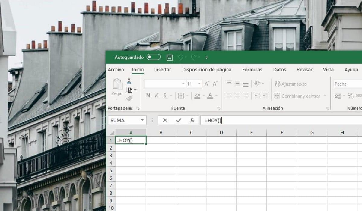 Función HOY en Microsoft Excel