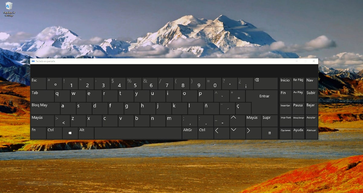 Activar  teclado en pantalla Windows 10