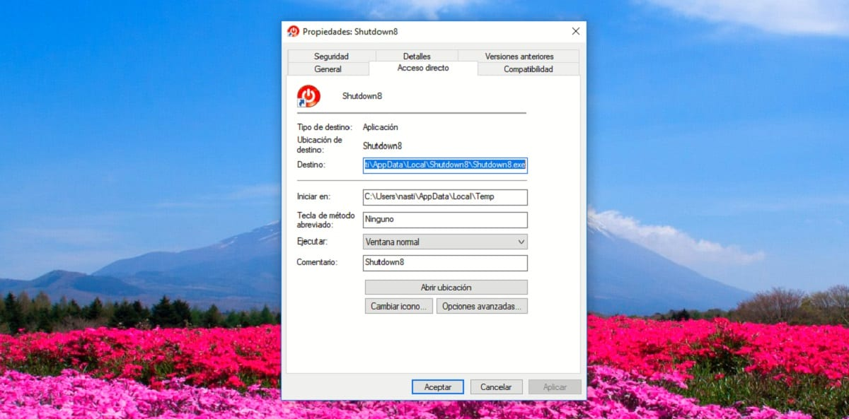 Cambiar icono aplicación acceso directo