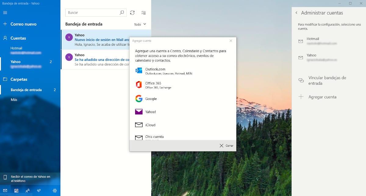 Como añadir una cuenta de correo a la aplicación Correo de Windows 10