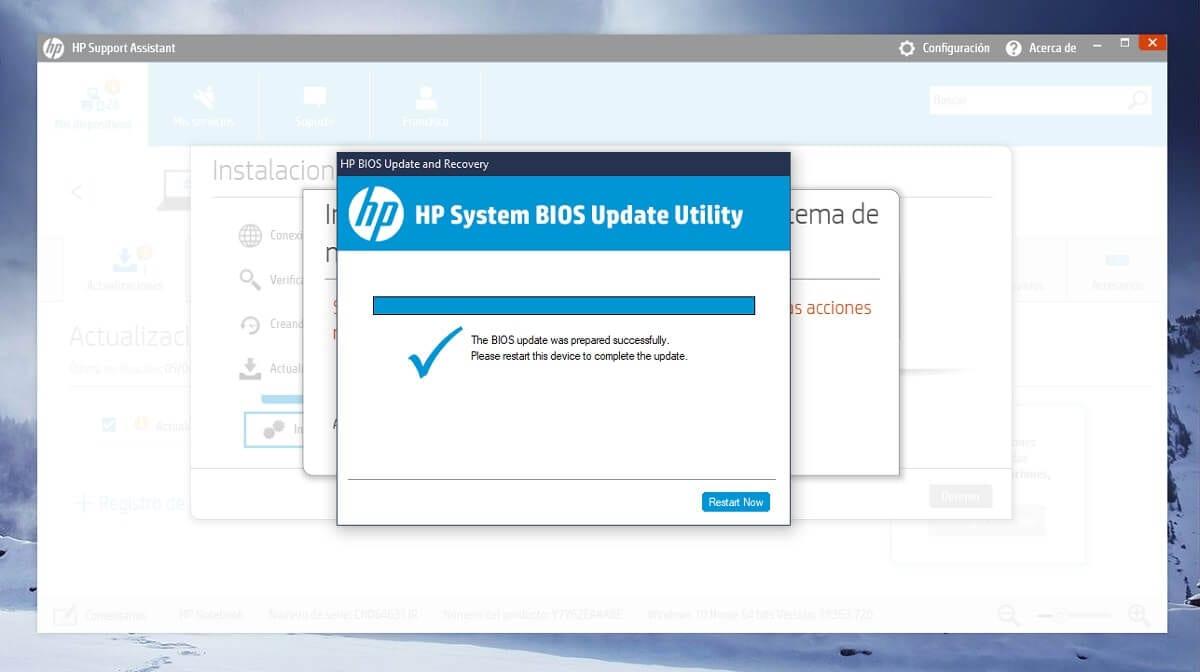 Actualizar BIOS en un equipo HP