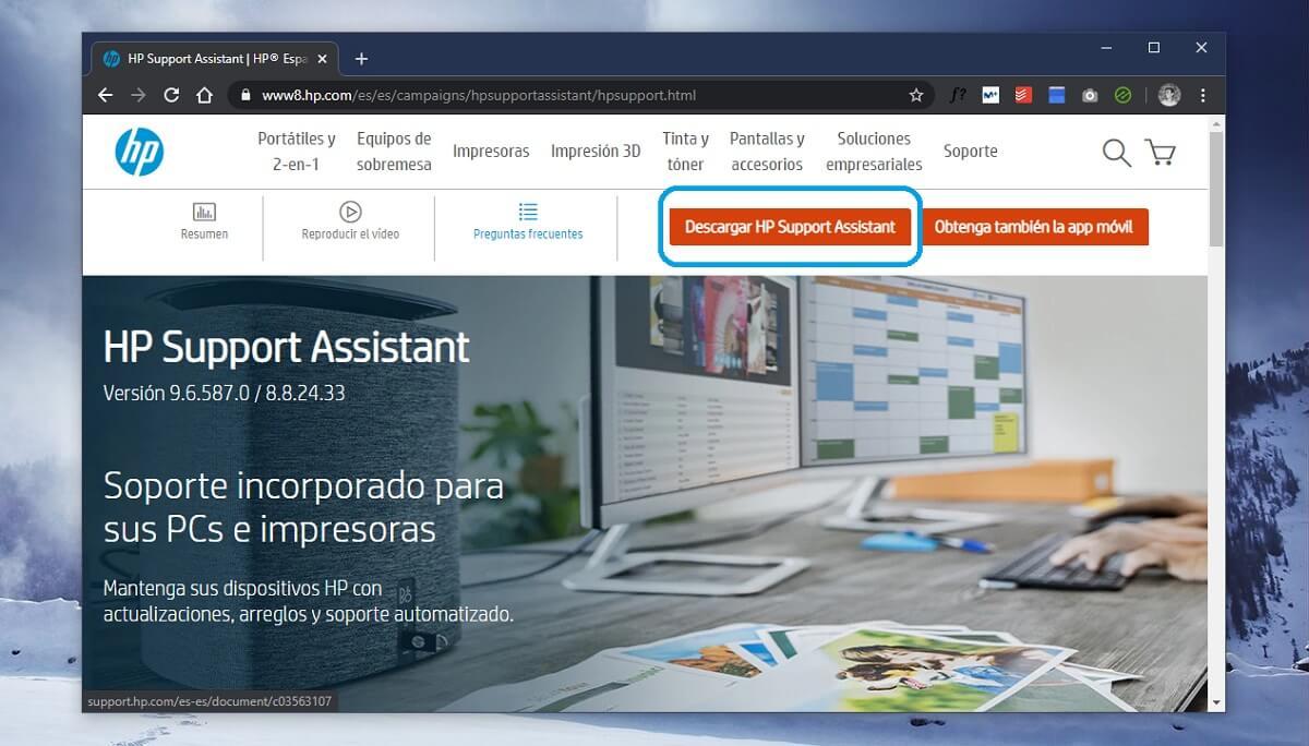 Descargar HP Support Assistant