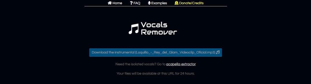 Remove Vocals
