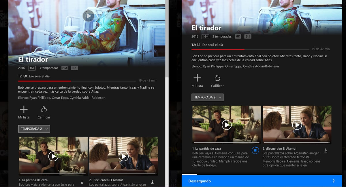 descargar series y películas de Netflix en Windows 10