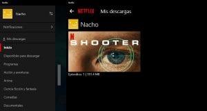 descargar series y películas de Netflix en Windows 10
