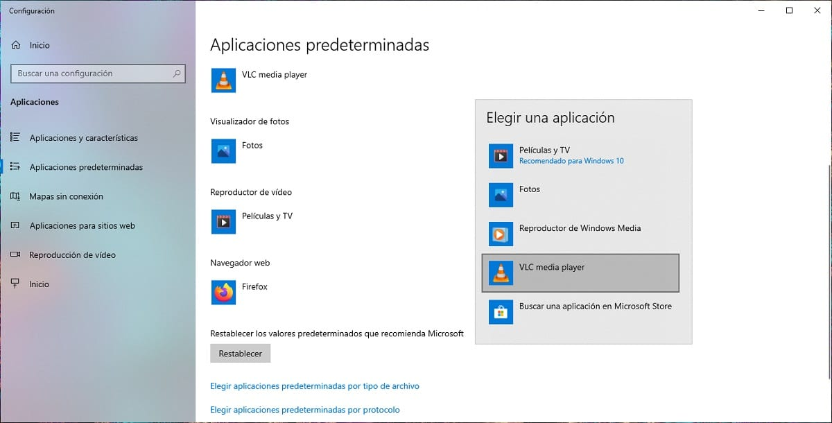Cómo establecer VLC como reproductor de vídeo predeterminado en Windows 10
