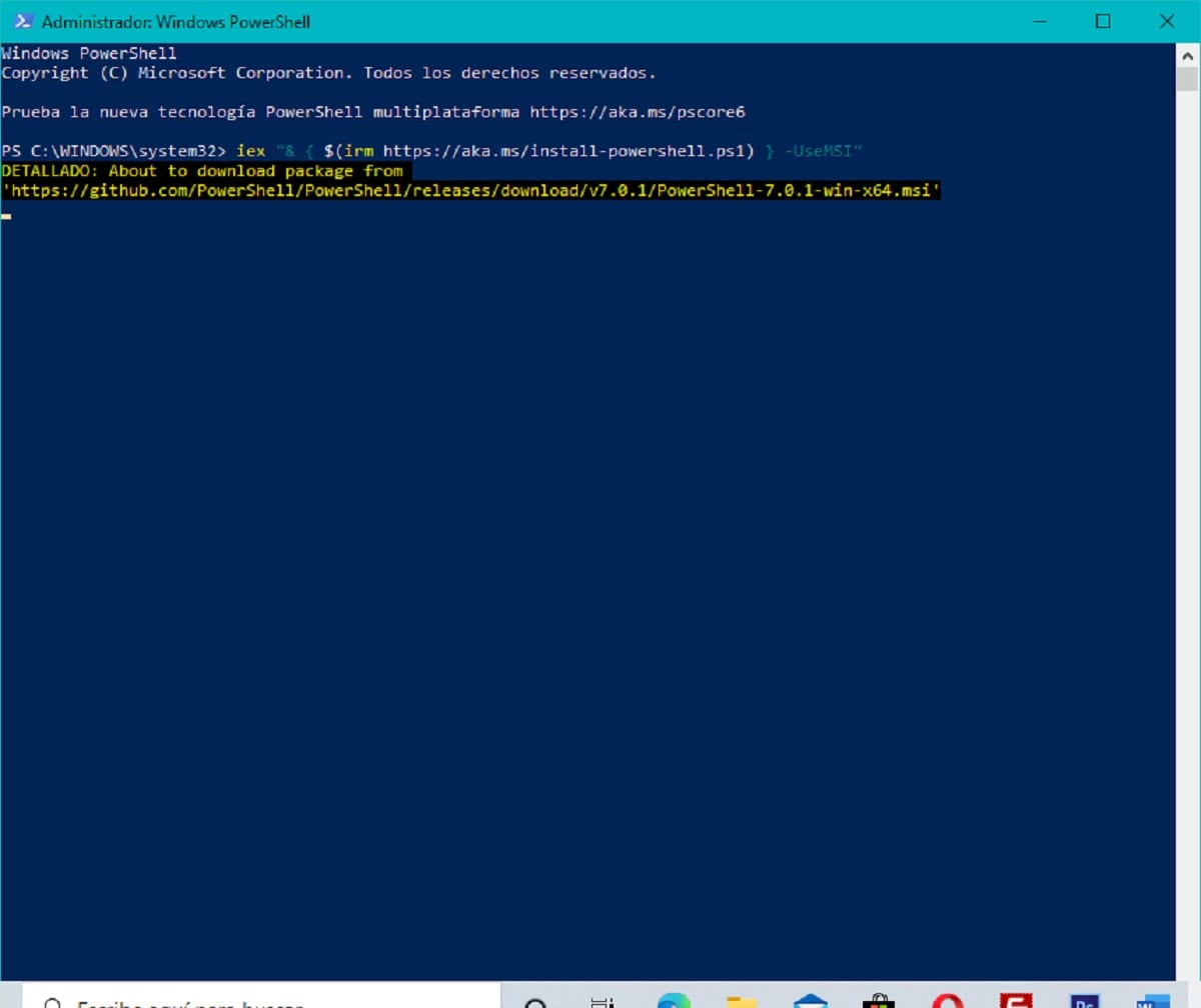 Actualizar PowerShell