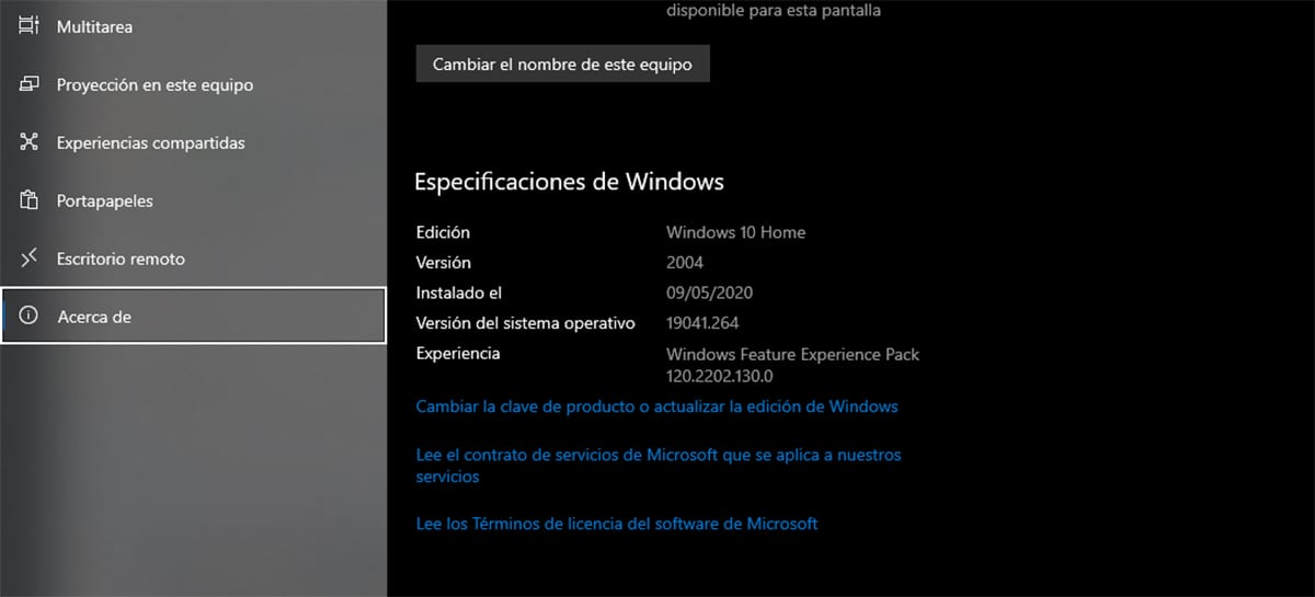 Qué versión de Windows 10 tengo