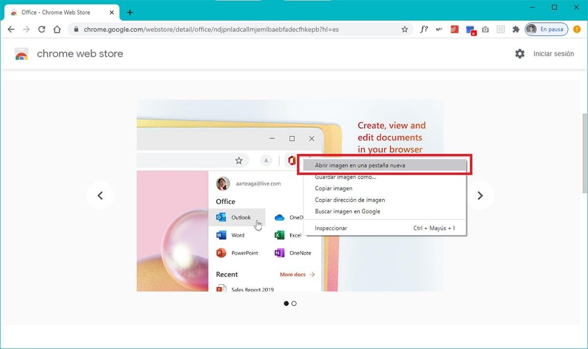 Guardar imagen en formato WebP como PNG o JPG sin programas