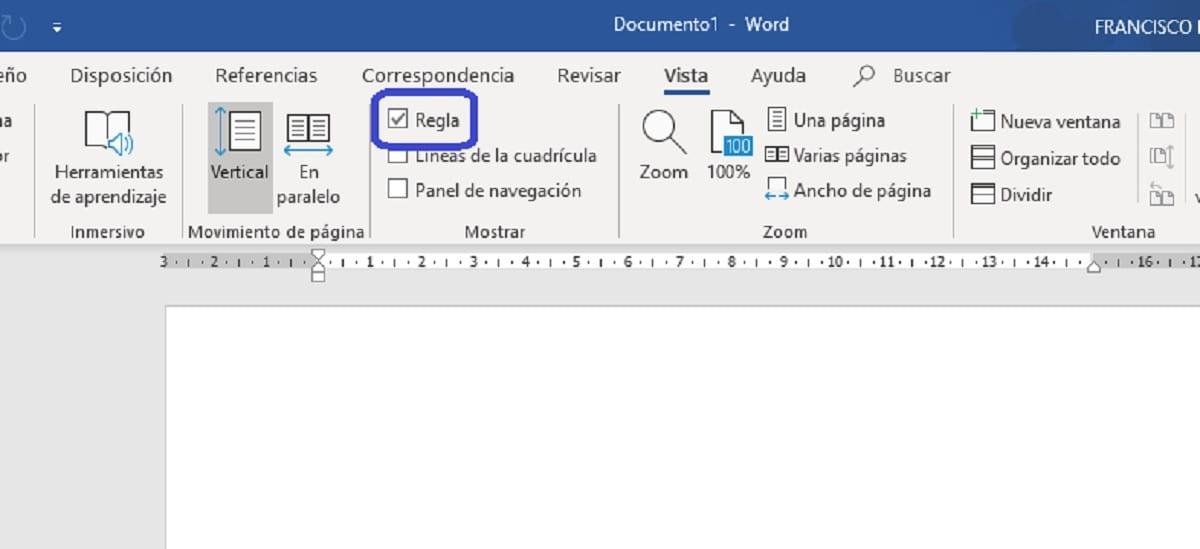 Mostrar u ocultar la regla en Microsoft Word