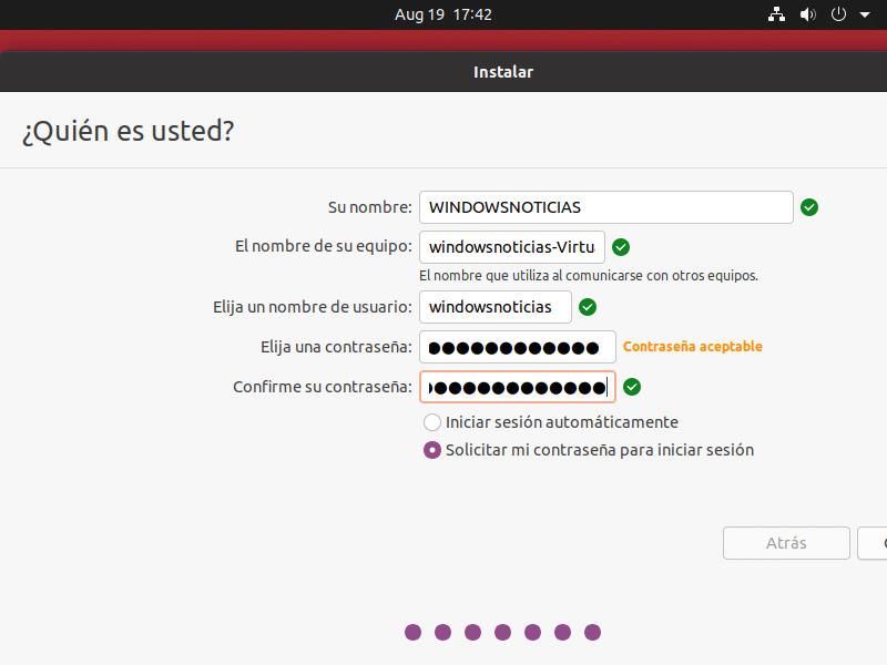 Instalación de Ubuntu en VirtualBox