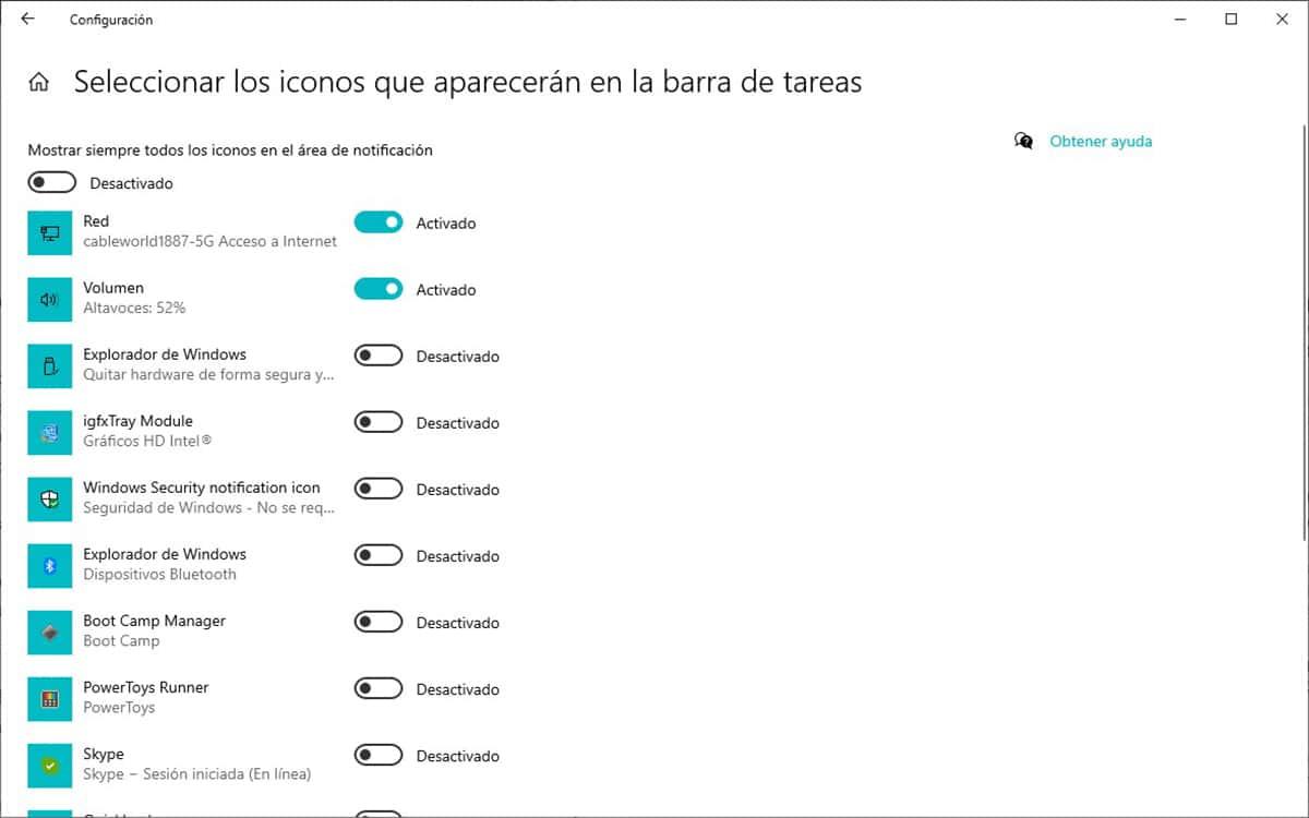 iconos aplicaciones barra de tareas