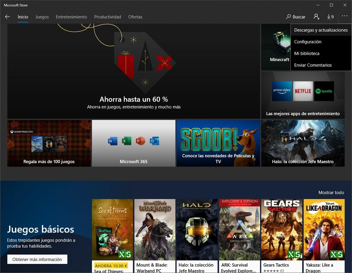 Actualizar aplicaciones de la tienda de Windows 10