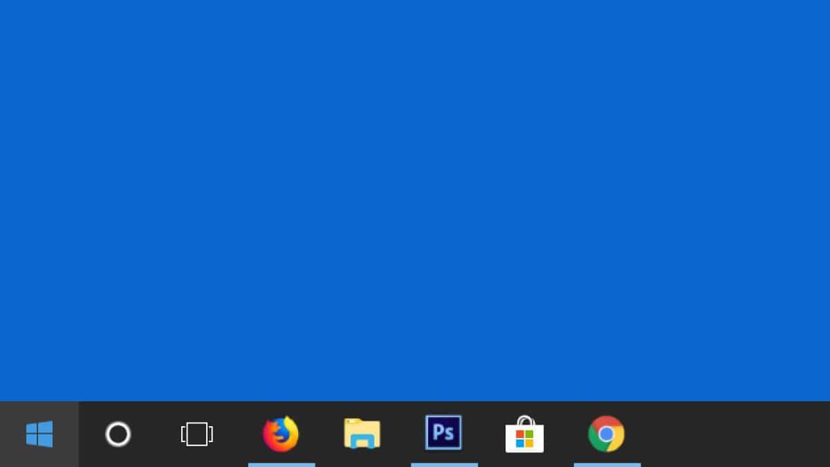 Barra de tareas de Windows