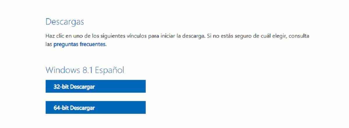 Descargar archivo ISO oficial de Windows 8.1
