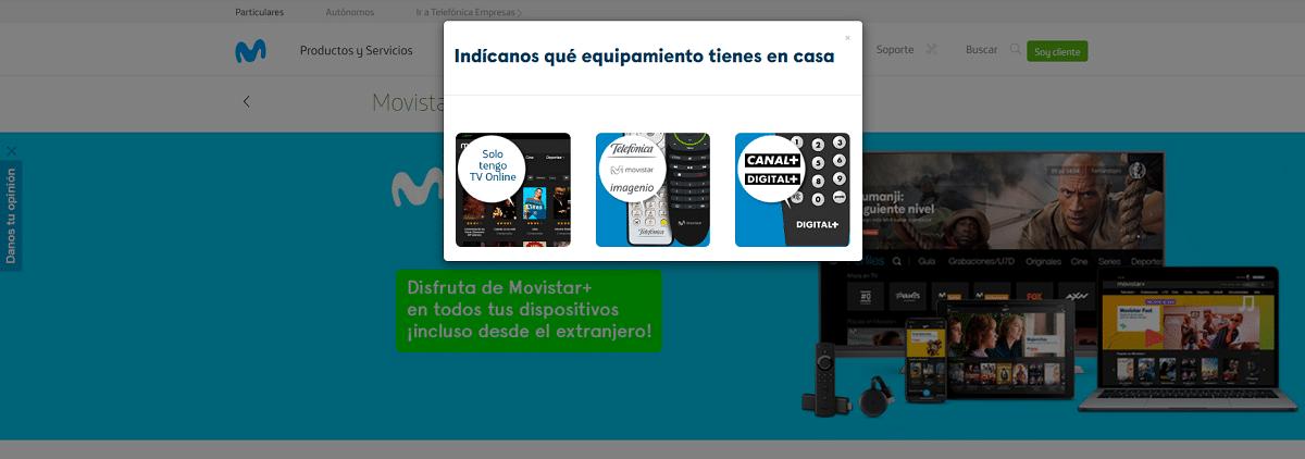 Activar Movistar+ en dispositivos