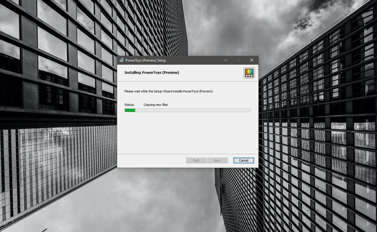 Instalador de las Microsoft PowerToys