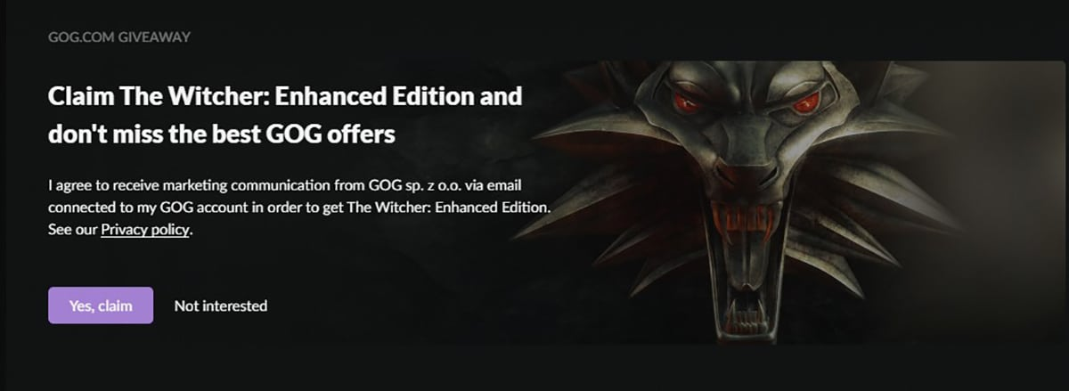 The Witcher Enhanced Edition gratis