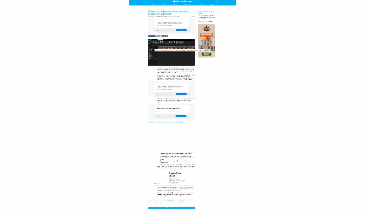 Captura página web completa