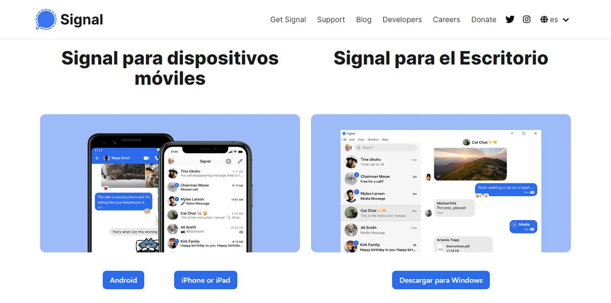 Descargar Signal para Windows