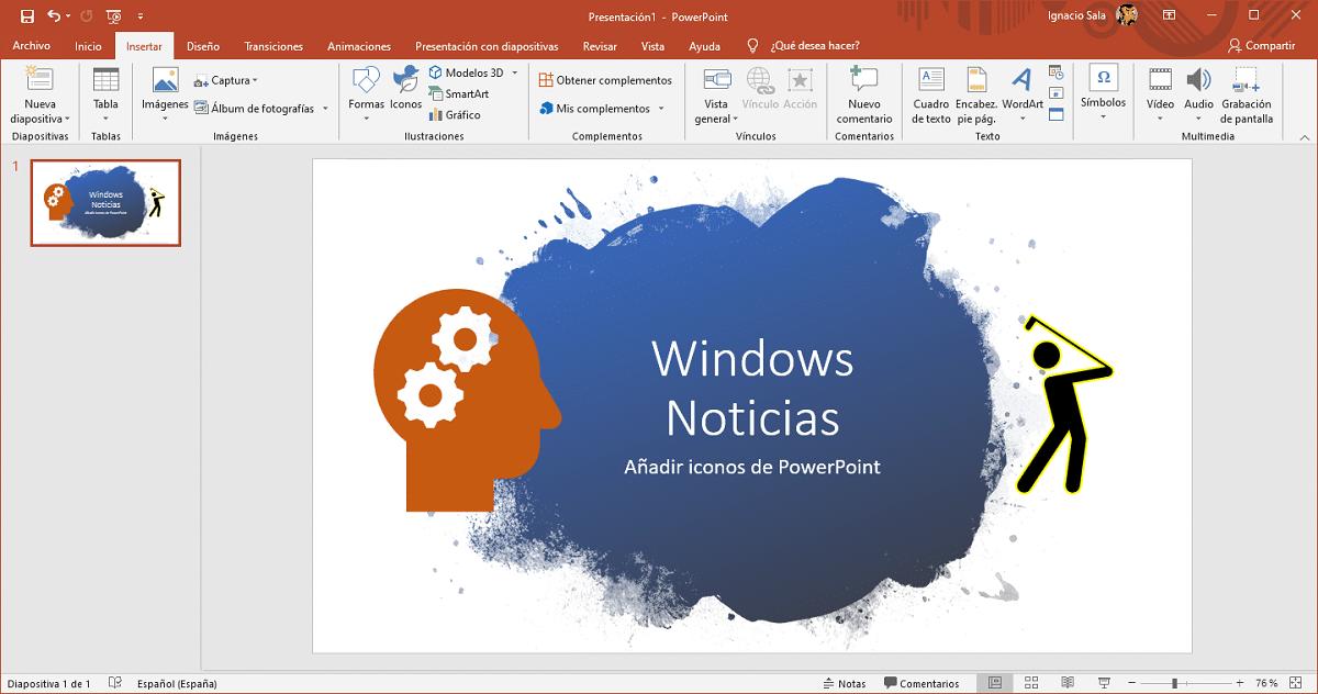 iconos en PowerPoint