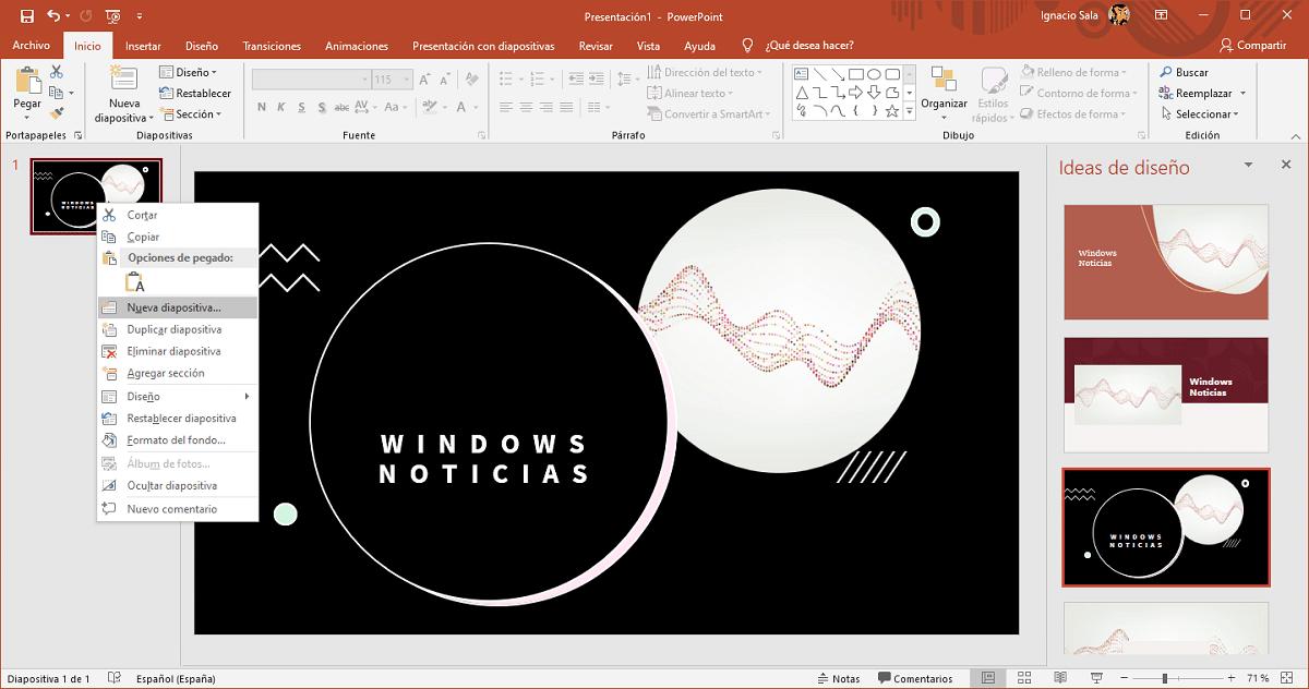 añadir diapositivas powerpoint