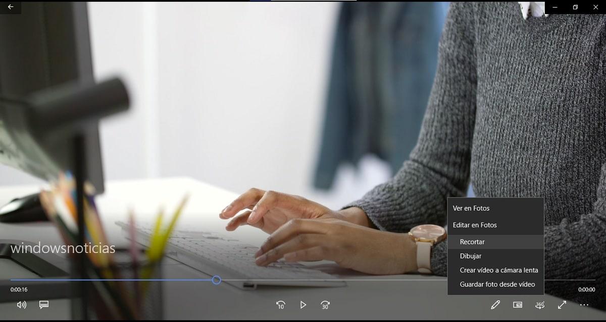 Recortar vídeos en Windows 10 sin instalar nada: abrir editor en Fotos