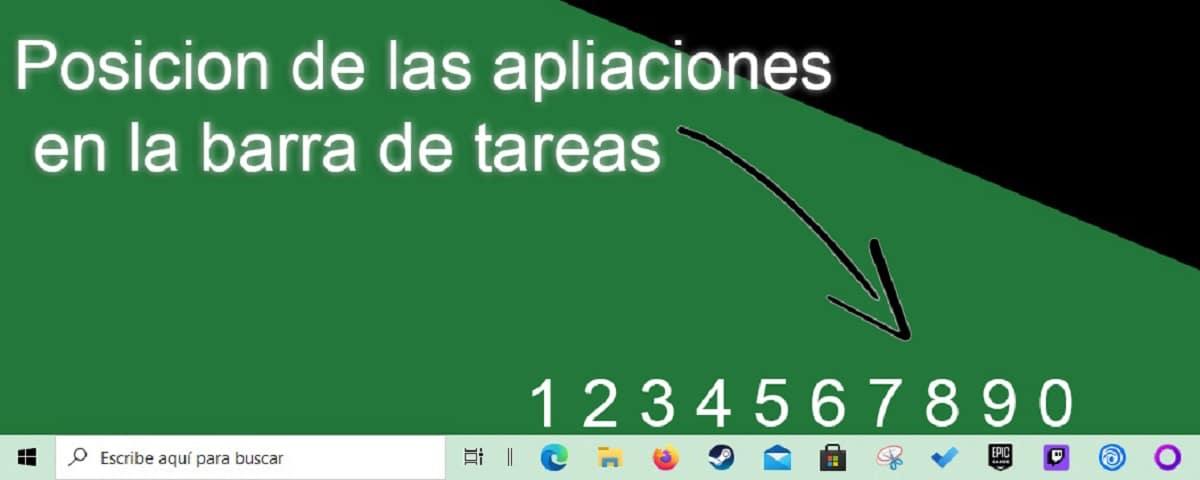 Atajos de teclado barra de tareas