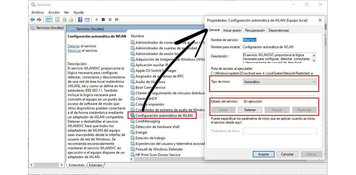 búsqueda manual redes wifi