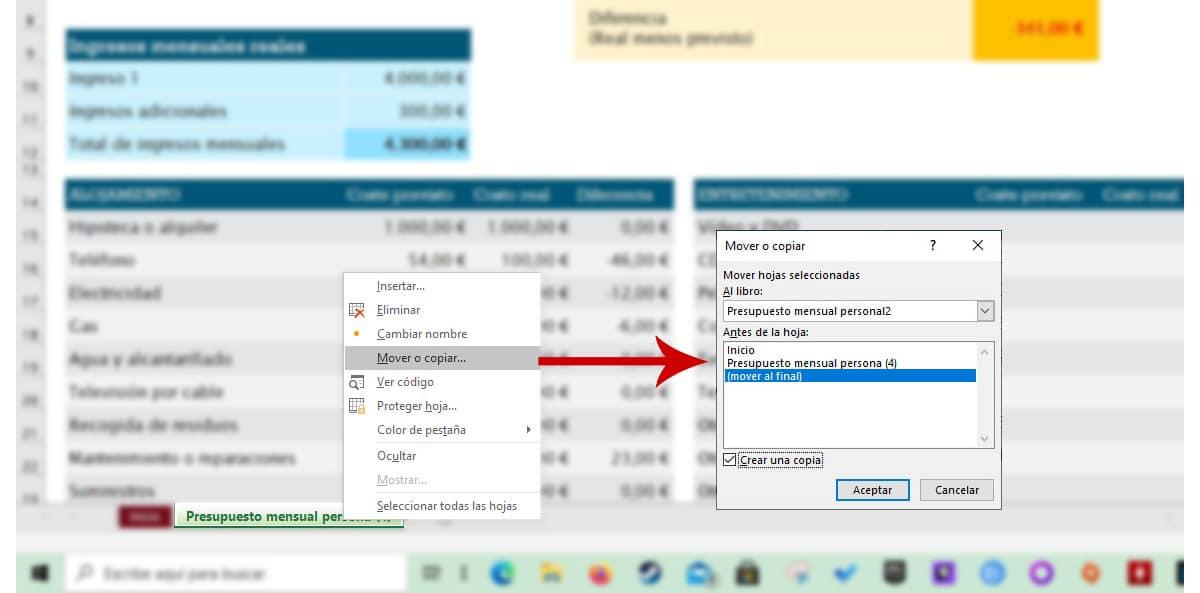 copiar varias hojas de Excel