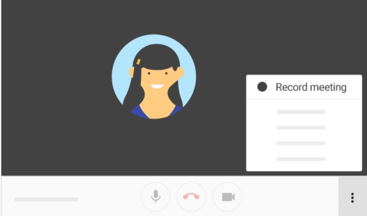 Grabar una reunión en Google Meet