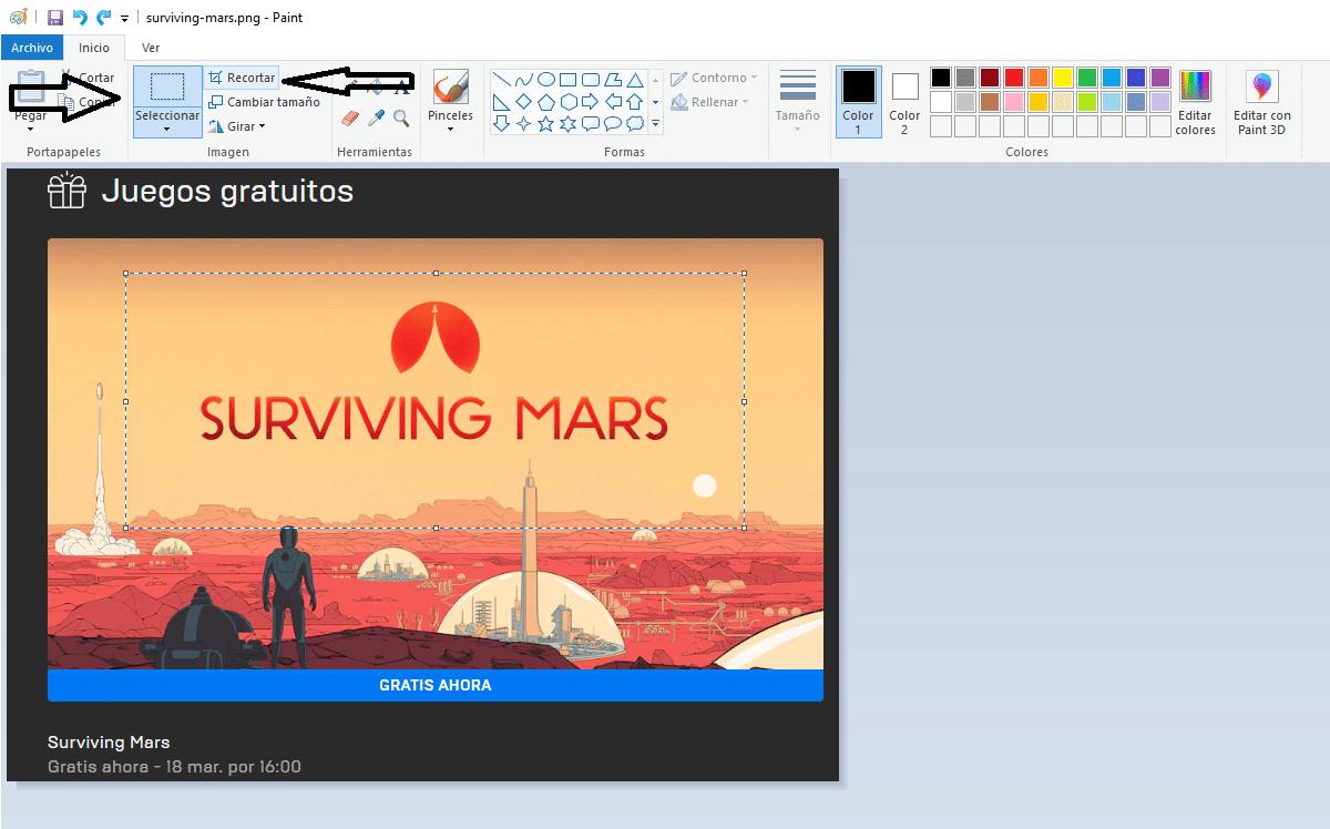 Recortar imagen Windows