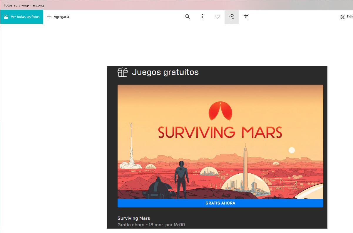 girar imagen Windows con Fotos