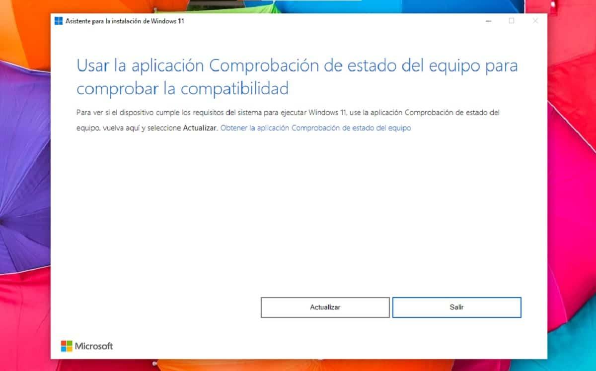 Comprobar si el equipo es compatible con Windows 11